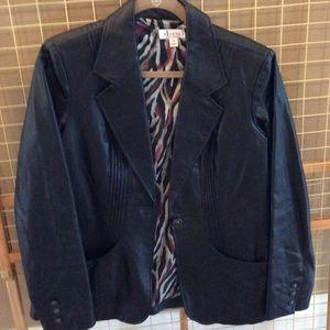 Denim & Co Leather Jacket